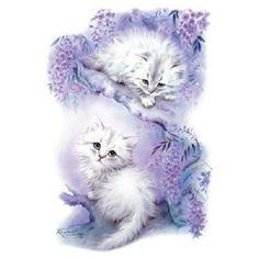Mischief Kittens Cat HEAT PRESS TRANSFER for T Shirt Tote Sweatshirt Fabric 274s