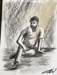 Life/model 15min drawing