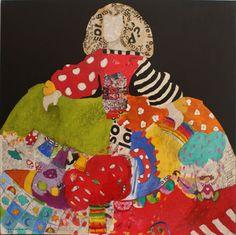 Menina 117 de Carmen Casanova Infanta Margarita, Collage Artists, Artist Painting, Art Pictures, Ronald Mcdonald, Arts And Crafts, Colours, Embroidery, Christmas Ornaments