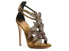 To the tune of $1200 :))Giuseppe Zanotti Leather Flower Sandal Women's Dress Sandals Sandals Women's Shoes - DSW