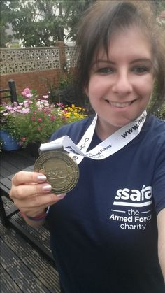 A D-Day Race finisher with matching Charity T-Shirt!