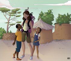 Illustration réalisée bénévolement pour une école du Burkina Faso - 2014