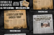 Vintage Newspaper Mockups Vintage Newspaper Newspaper Vintage