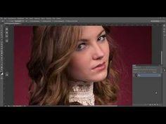 Обработка кожи в фотошоп методом inverted high pass - YouTube