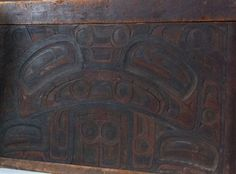 Detail of a Haida bentwood chest in the Penn Museum. Collection Object Number: 37732