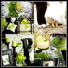 My own wedding...   Black & Green