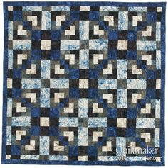 Grand Square quilt pattern: Simple squares and rectangles make up this quick throw-size quilt designed by Karyn Ashley-Smith.
