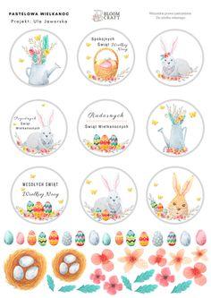 Easter 2020, Bottle Cap Images, Digital Stamps, Happy Easter, Cardmaking, Decorative Plates, Bloom, Scrapbooking, Birthday