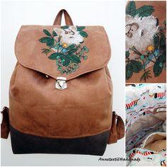 Kézzel festett, hímzett bozontos kutyás hátizsák Merida, Laptop, Puppies, Backpacks, Dogs, Fashion, Moda, Cubs, Fashion Styles