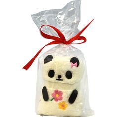 Panda Gift Hand Towel ($4.80) ❤ liked on Polyvore featuring home, bed & bath, bath, bath towels and bear bath towels
