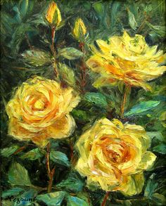 Yellow Blossom  Original Oil Painting on Canvas by TrueImpressions, $149.00