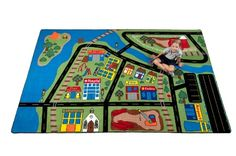 Total Transportation Play Town Rug