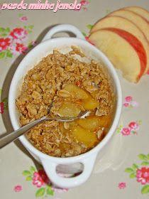 O melhor restaurante do mundo é a nossa Casa: Crumble de maçã de microondas