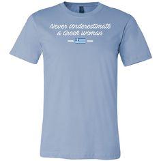 Never Underestimate A Greek Woman Men Short Sleeve T Shirt - TL00649SS