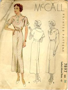 """For some reason, I think of a Frank Capra heroine when I look at this pattern. It looks just like one of his """"office"""" gals from """"Mr. Smith Goes to Washington"""" or another great 1930s film."""
