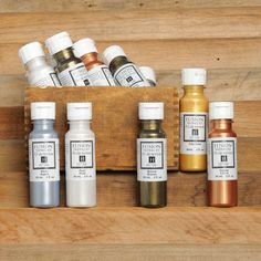 Fusion™ Tinting Kit: Metallic Copper, Metallic Bronze, Metallic Pale Gold, Iridescent Pearl, Metallic Silver.