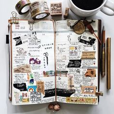 | a look back • week 42 | #livefolk #liveauthentic #livethelittlethings #nothingisordinary #onthetable #coffeetime #coffee #journal #planner #plannerlove #plannernerd #stationery #stationerylove #stamps #washitape #zakka #midoritravelersnotebook #midori #papercraft #scrapbooking #typography #travelersnotebook #travelersnote #travelersfactory #stickers #handwriting #vsco #vscocam