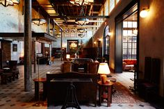 Hotel Emma - Lobby. Interior Design by Roman and Williams.