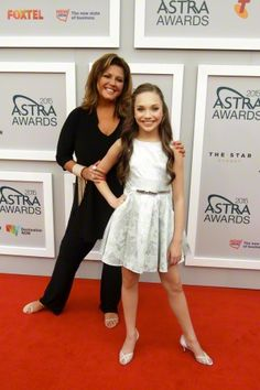 Maddie Ziegler and Abby Lee Miller in Sydney Australia at the Astra Awards 2015