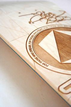 laser on wood by FLATAU / THESIGNER