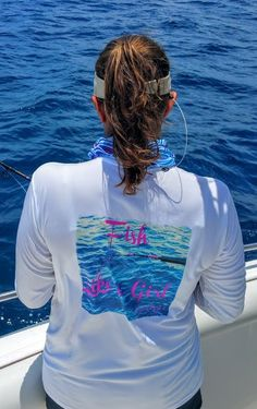 Fish Like a Girl Long Sleeve UPF50 performance shirt