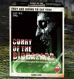 Eat your curry before the undead eats you. - http://noveltystreet.com/item/11210/