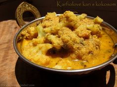 Karfiolove kari s kokosom / Recepty z Indie  Cauliflower curry with coconut