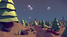 Low Poly Forest Landscape [Blender]