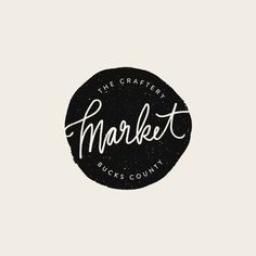 The Craftery Market Logo - Alisa Wismer Design + Illustration #thecrafterypa #market #makers #shoplocal #branding