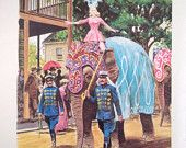 Disney ~ Circus comes to town~ 1960s book page
