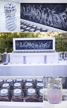 Inspiration - Drink Setup for an Event~ Fun for the summer!