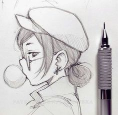 Exhilarating Pencil Drawing Supplies Techniques Ideas Learn Drawing cute drawing ideas for begin Girl Drawing Sketches, Art Drawings Sketches Simple, Pencil Art Drawings, Manga Drawing, Easy Drawings, Simple Cute Drawings, Pencil Drawing Tutorials, Creative Sketches, Simple Drawings For Beginners