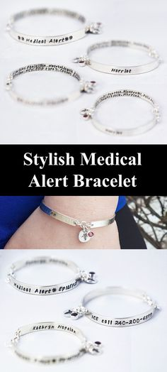 Parkinson/'s Disease Bracelet Italian Charm Medical Alert with Star of Life Laser