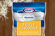 Vermont White, Sharp, and Mild Cheddar cheese with cream cheese delivers a creamy, sharp taste that will add some more MMMM to your next recipe.