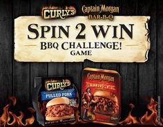 Curly's BBQ Challenge Instant Win Game WIN a FREE Curlys PRODUCT, Captain Morgan BBQ Sauce & more Enter DAILY-ENDS 3/24