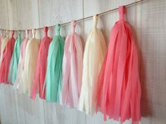 Cupcake .. tissue tassel garland party decoration for par PartyPoms,