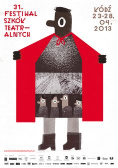 """Szkol Teatra Lnych Festival poster, 2013. Designer?    Remake for Rev poster? """"Expose Yourself to Chamber Music""""?"""