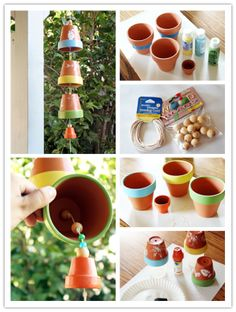 Flowerpot Wind Chime...Interesting DIY Wind Chimes Ideas To Try This Summe...#diy #windchim #windBell