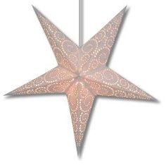 Purity Swirl Star Light by Divine Planet Star Lanterns & Lamps Paper Star Lights, Paper Star Lanterns, Paper Lantern Lights, Lantern Lamp, Paper Stars, String Lights, Hanging Star Light, Norwegian Christmas, Star Lamp