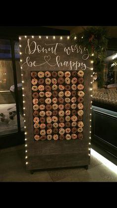 #donutwall #nyewedding #diy Donut wall donut wall wedding