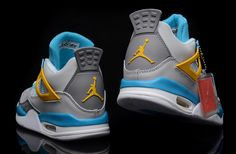 dc7f60963dc Top Nike Air Jordan IV Men Shoes in Light Gray and Blue