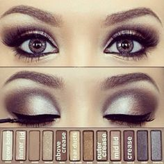 Simple smokey eyes using Naked 2 by Urban Decay