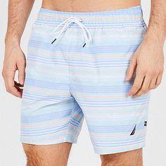 dec1a7fda7029 Big   Tall Summer Striped Full-Elastic Swim Trunks  plussizefashion   plussize  shopstyle