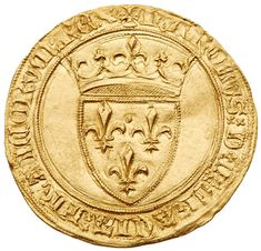 France. Ecu d'or a la couronne, ND NGC MS63 Fr-291. Charles VI, 1380-1422. Crowned arms of France. Reverse; Floriated cross… / MAD on Collections - Browse and find over 10,000 categories of collectables from around the world - antiques, stamps, coins, memorabilia, art, bottles, jewellery, furniture, medals, toys and more at madoncollections.com. Free to view - Free to Register - Visit today. #Coins #Gold #MADonCollections #MADonC Old British Coins, French Coins, Knick Knack, World Coins, Rare Coins, Coin Collecting, Wax Seals, Rotterdam, Monet