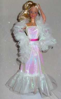 crystal barbie 1983, my all-time favorite barbie.  Loved her crinkly dress!