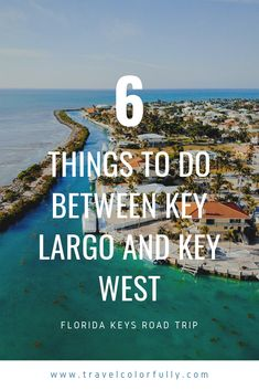 Florida Keys Road Trip: 6 Things To Do Between Key Largo and Key West Take a Florida Keys Road Trip and find out some of the greatest things to do, see, and eat between Key Largo and Key West. Visit Florida, Florida Vacation, Florida Travel, Florida Trips, Cruise Vacation, Florida Keys Honeymoon, Usa Travel Guide, Travel Usa, Travel Guides