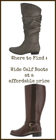 Where to find Wide Calf Boots that dont break the Budget.