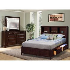 Serenity Bedroom Collection - Value City Furniture-Queen Platform ...