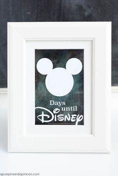 Countdown {Printable} Disney Countdown {Printable} - A Pumpkin And A PrincessDisney Countdown {Printable} - A Pumpkin And A Princess Disney Diy, Disney Crafts, Disney Dream, Disney Love, Disney Magic, Disney Stuff, Disney World Vacation, Disney Vacations, Disney Trips