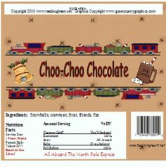 Polar Express Printable Candy Bar Wrapper